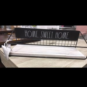 Rae Dunn home sweet home shelf